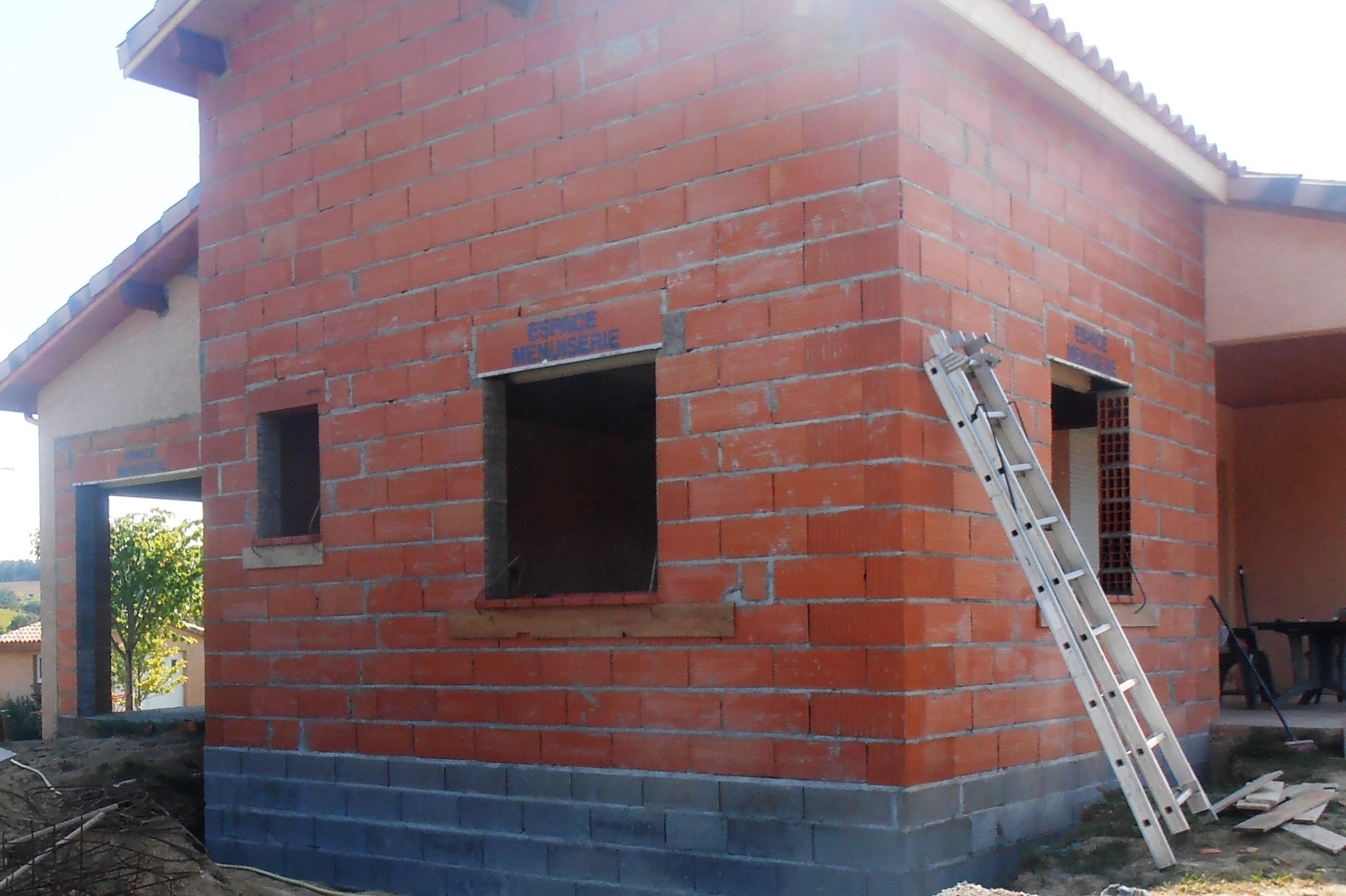 Maçonnerie, construction maison Auterive, Ariège, Haute-Garonne