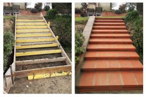 Artisan macon carbonne 31390 escalier maconne